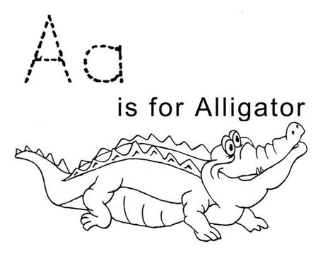 Letter A For Alligator Coloring Page  Free &amp Printable Pages sketch template