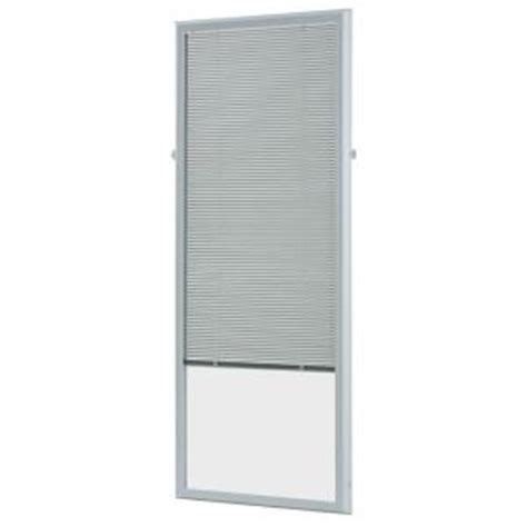 add on blinds for doors odl white cordless add on enclosed aluminum blinds with 1