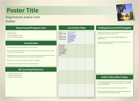 University Of Hawaii At Manoa Assessment Office Poster Template