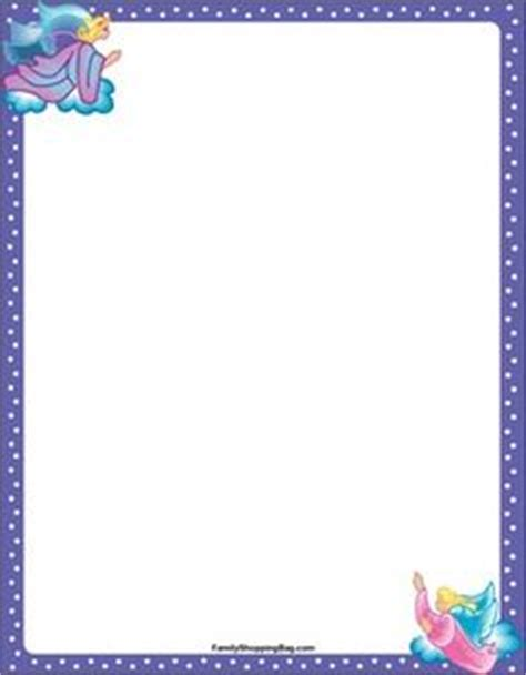 printable angel stationery free angel border clip art 29