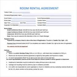 Room Rental Agreement Template Free by Doc 12751650 Room Rental Agreements Printable Sle