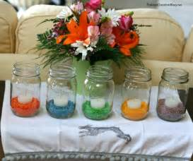 Simple Table Decorations Colored Rice Easter Table Decor Today S Creative