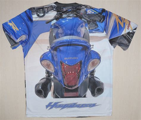 Tshirt Suzuki Hayabusa Logo Bdc suzuki hayabusa t shirt with logo and all printed