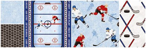 Hockey Quilt Patterns by Sew Quilt Shop Holy Macinaw Hockey Fabric