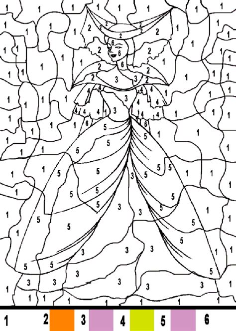 princess coloring pages by numbers color by number disney coloring pages