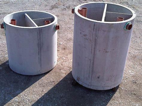 vasca settica fosse settiche in cemento monoblocco fosse imhoff