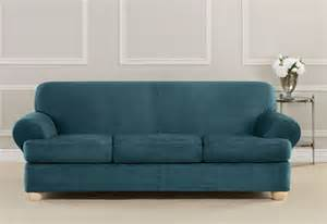 Slipcover 3 Cushion Sofa Sure Fit Ultimate Heavyweight Stretch Suede Individual 3