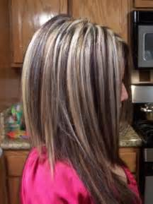 hair color with highlights and lowlights for black dark hair with blonde chunky highlights chunky