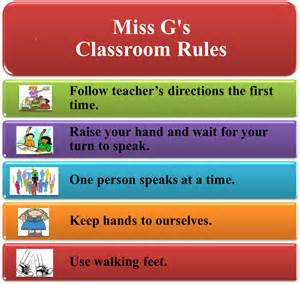 how to draw classroom rules