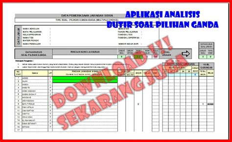 format analisis butir soal download free download pengolahan analisis butir soal pg excel