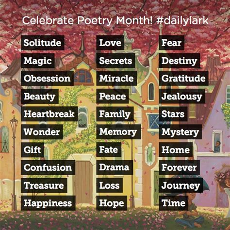 theme list for poems a poem a day storybird blog