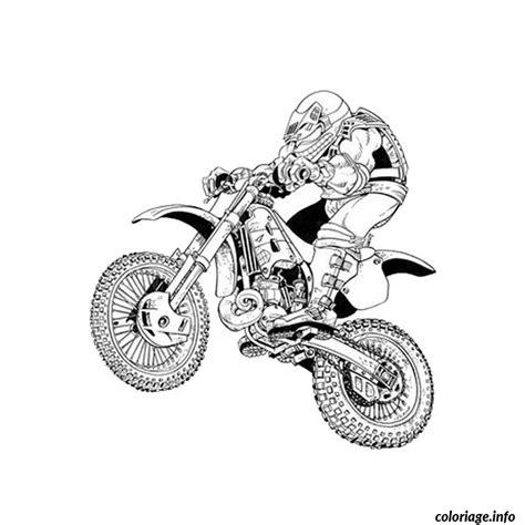Coloriage Moto Crosse Dessin