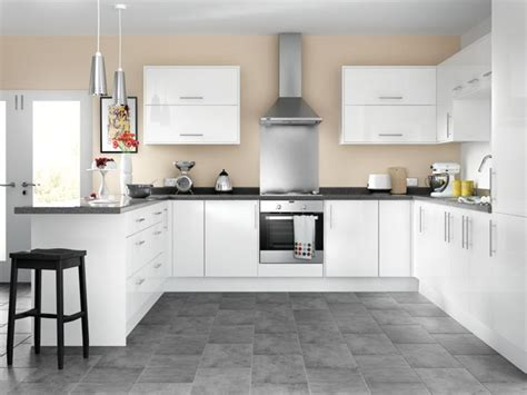 Kitchen Paint At Wickes Orlando White High Gloss Kitchen Wickes Co Uk