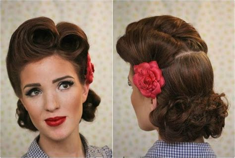 Modern Pin Up Hairstyles by Pin Up Hairstyles Fifties Hairstyles For