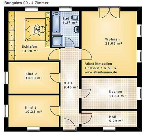 grundriss wohnung 90 qm bungalow neubau beste wohnqualit 228 t bungalows ab 64 m 178