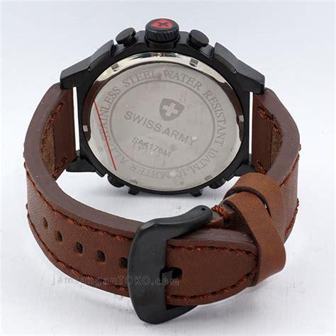 Jam Tangan Swiss Army Diuble Time Coklat Tua harga sarap jam tangan swiss army sa 4176 time