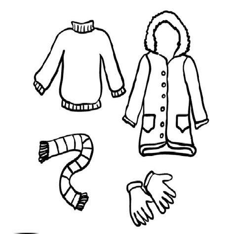 winter clothing coloring sheet page for grig3 org
