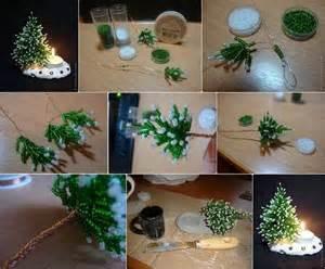 diy mini bead christmas tree candle holder