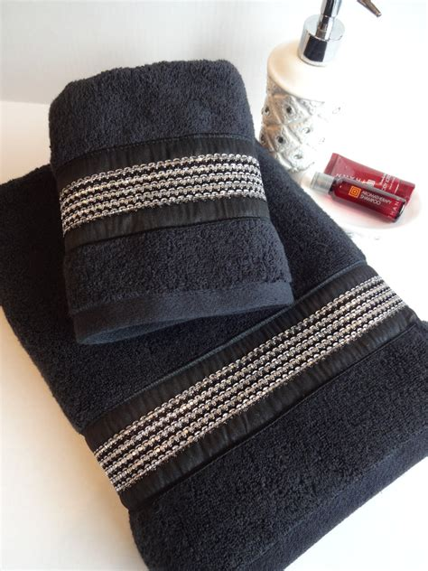black bathroom towels pick your size bling towels black towels bling rhinestone