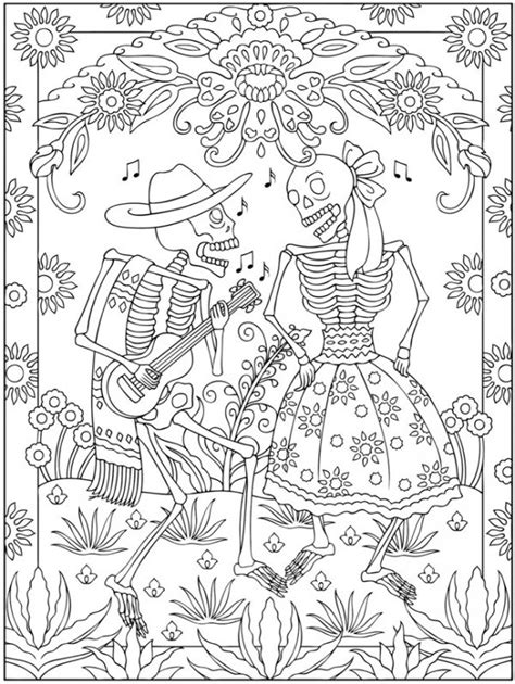 coloring pages for day of the dead freebie day of the dead coloring page sting