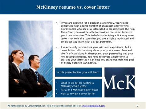 Cover Page Example For Resume mckinsey cover letter sample