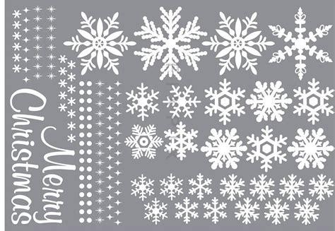 Fensterdeko Weihnachten Schneeflocken by Wandsticker Wandtattoo Fensterbild Schneeflocken Merry