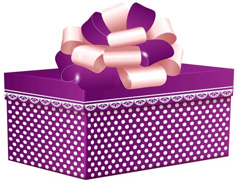 Purple Dotted Gift Box PNG Clipart   Best WEB Clipart