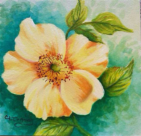 painting ideas easy acrylic flower paintings wallpapers masswallpapers