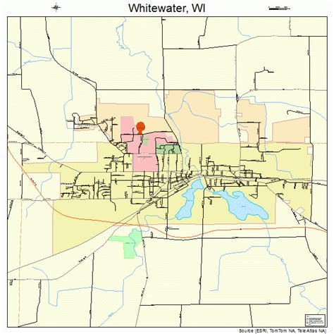 of wisconsin whitewater whitewater wisconsin map 5586925
