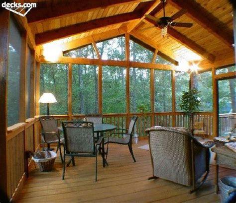 cedar screened porch interior screen porch