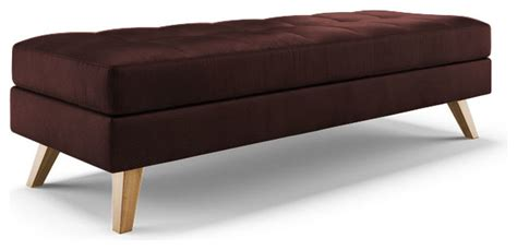 purple upholstered bench worthy leather bench brighton aubergine purple midcentury upholstered benches