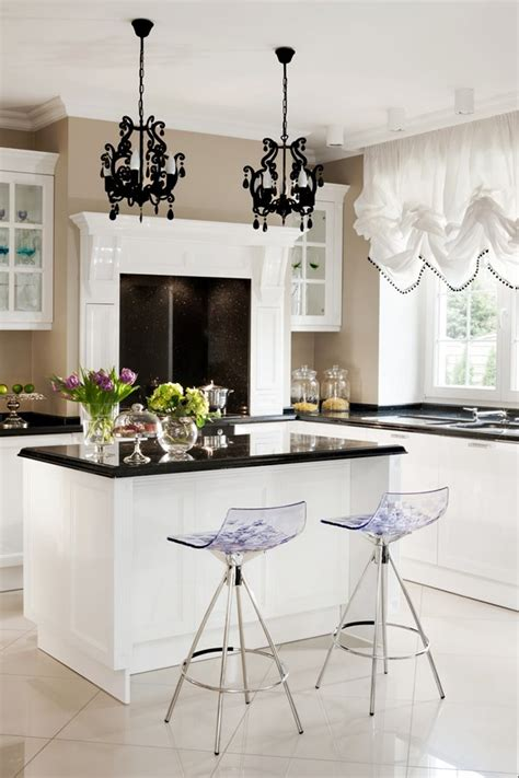 jadalnia  kuchnia  stylu modern classic inspiracja