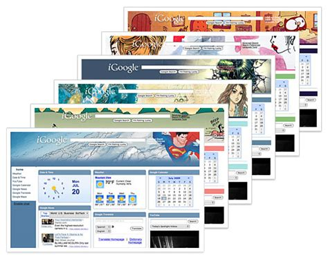 theme google today google releases new comic book themes for igoogle