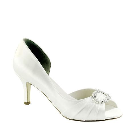 wide width bridal shoes ivanna white satin dyeable wide width open toe bridal