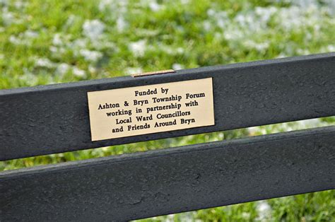 engraved plaques for benches file bench plaque geograph org uk 925960 jpg