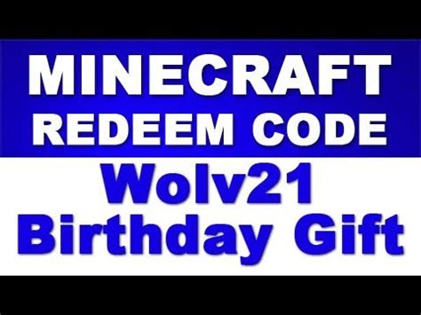 Minecraft Redeem Code Giveaway - minecraft redeem code giveaway wolv21 birthday gift to you youtube