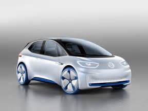 Electric Car Volkswagen Id Electric Concept Car Motor Show