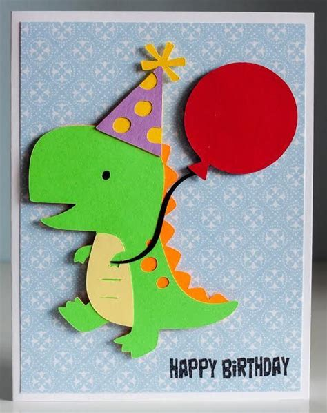dinosaur card template dinosaur birthday card using cricut cartridge quot create a