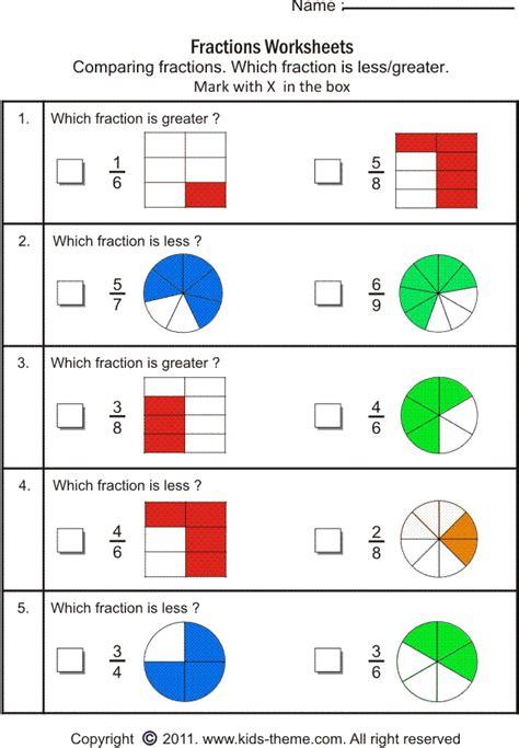 Fractions Worksheets Grade 3 by Fraction Worksheets Grade 3 Worksheets