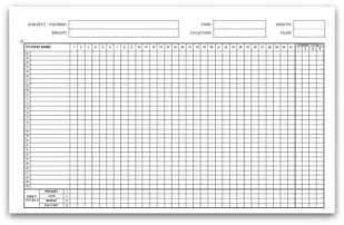 weekly attendance register template 5 attendance register templates excel xlts