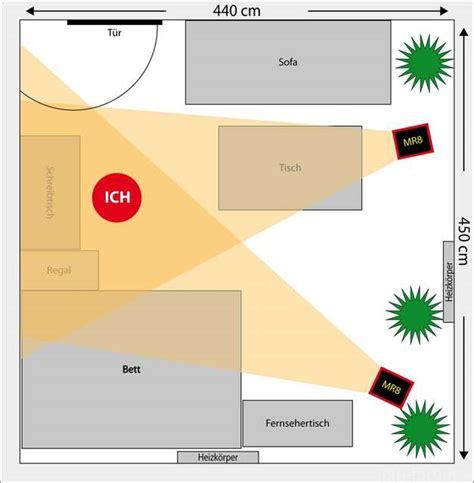 schlafzimmer quadratisch optimale platzierung mackie mr8 raum 4 5m x 4 5m
