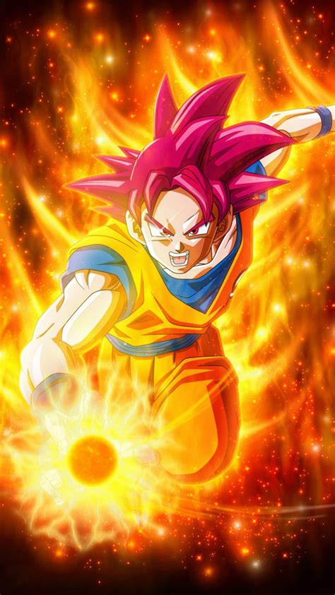 dragon ball super mobile wallpaper super saiyan god in dragon ball super download free 100
