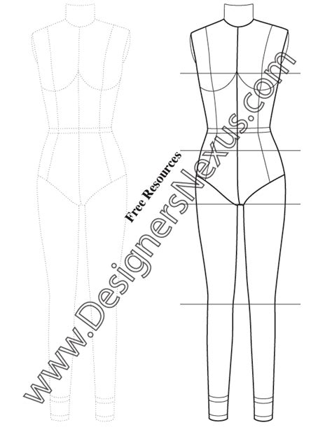 design mannequin template dress form template for fashion sketching