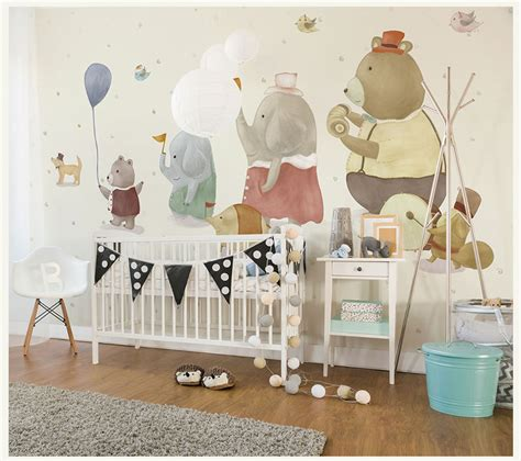 custom 3d elephant wall mural personalized giant photo custom cute elephant withballon mural wall paper 3d wall