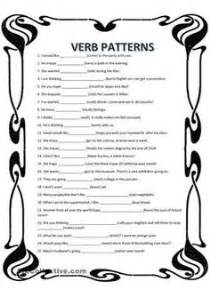 verb pattern chart exercises to practice reinforce the use of the verb to