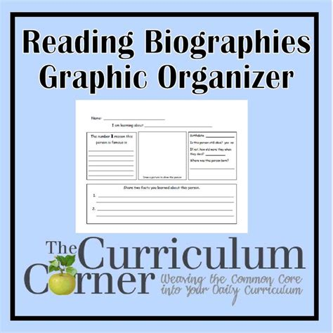 common core biography graphic organizer 110 best images about common core the curriculum corner