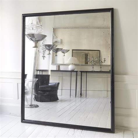 large black framed ballet school mirror in mirrors
