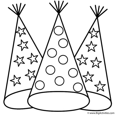 new year hat coloring pages party hats coloring page chinese new year