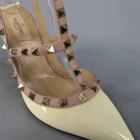 Sandal Selop Vogue Creme valentino size 9 patent leather mauve studded t rockstud pumps for sale at 1stdibs