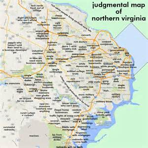 Judgemental Map Judgmental Maps Northern Virginia Arlington Va By